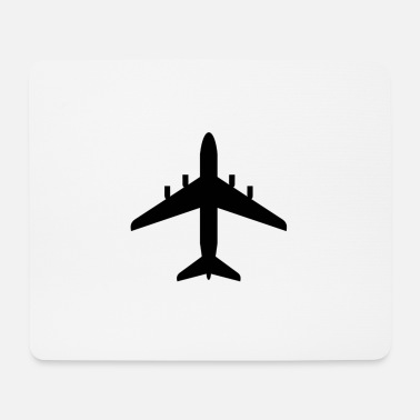 Commercial Silhouette of commercial airplane - Mouse Pad