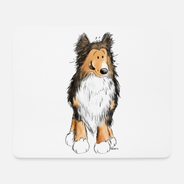 Dog Friend Little Sheltie I Shelties I Dogs Comic - Mouse Pad