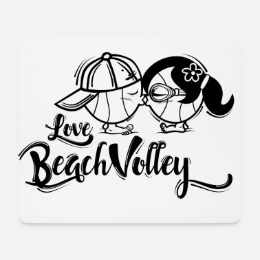 Beach Volley Beach Volley - Tapis de souris (format paysage)