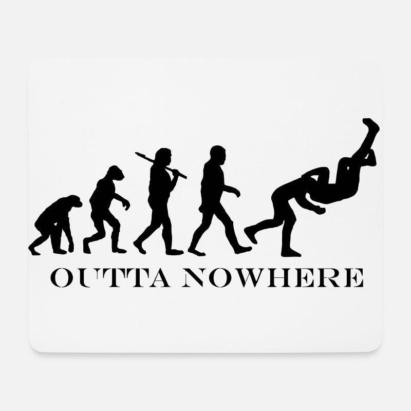 Wrestling Mouse pads  - RKO Outta Nowhere Mousemat - Mouse Pad white