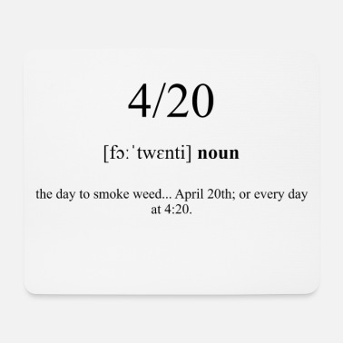 Collections 4/20 (Date) Definition Dictionary - Mousepad