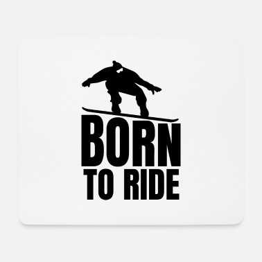 Snowboard Snowboard Ski Holiday Piste Boarder Born - Tapis de souris (format paysage)