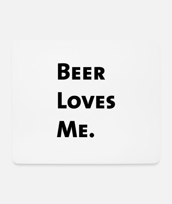 St Patricks Day Mouse Pads - Beer Loves Me. - Mouse Pad white