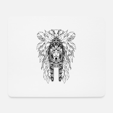 Black And White Collection indian - Tapis de souris