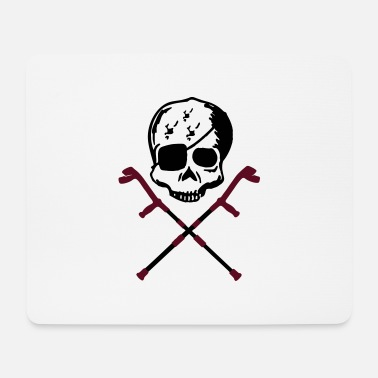Crutches crutches skull - Mouse Pad