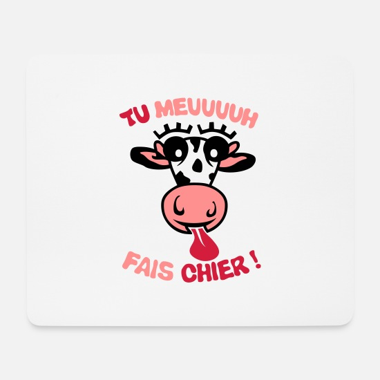 Expression Mouse Pads - do you moo cow shit phrase - Mouse Pad white