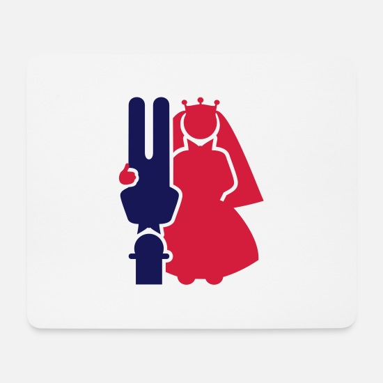 Bride Mouse Pads - Brautpaar / wedding couple (upside, 2c) - Mouse Pad white