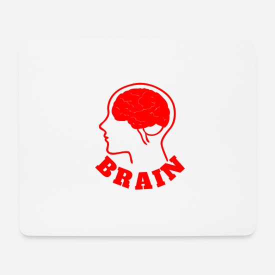 Nose Mouse Pads - brain - Mouse Pad white