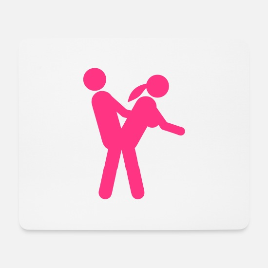 Love Mouse Pads - Icon couple love sex position 3108 - Mouse Pad white
