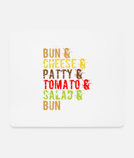 Fast Food Mouse Pads - Burgers, hamburgers, cheeseburgers, fast food - Mouse Pad white