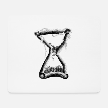 Drawing Painting Symbol Wooden clock - Mouse Pad