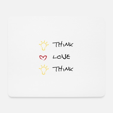 Think think love think - Mousepad