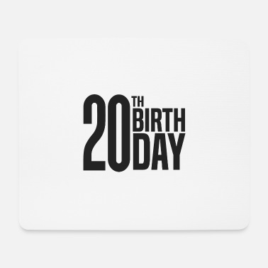 20th 20th Birthday - Mouse Pad