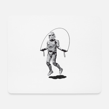 STORMTROOPER SKIPPING Mousepad (Querformat) Weiß