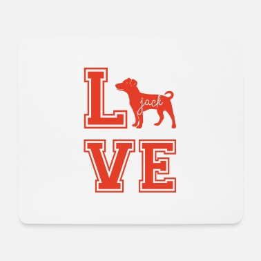 Jack Dog / Jack Russell: Love Jack - Mouse Pad
