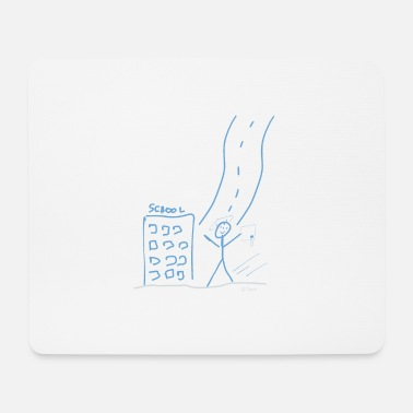 Pre School Graduation High school graduate stick figure Graduation diploma - Mouse Pad