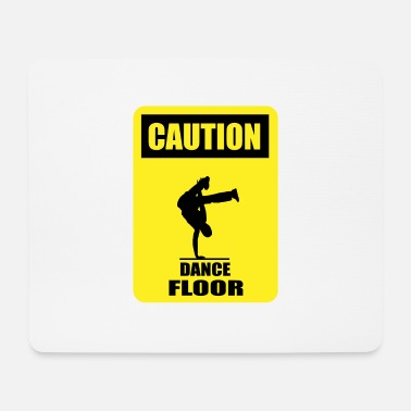 Dance Floor CAUTION - Dance Floor - Mouse Pad