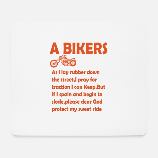 Birthday Mouse Pads - A biker prayer png - Mouse Pad white