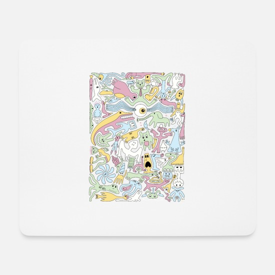 Trippy Mouse Pads - Creature Collective Alt - Mouse Pad white