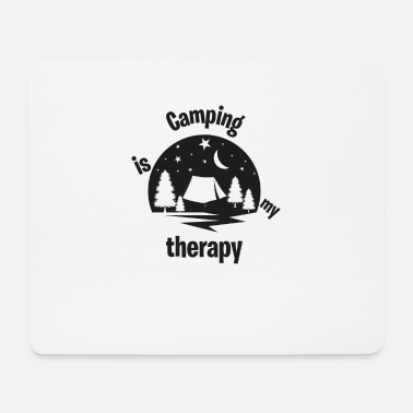 Space Camp Camping ist meine Therapie - Mousepad