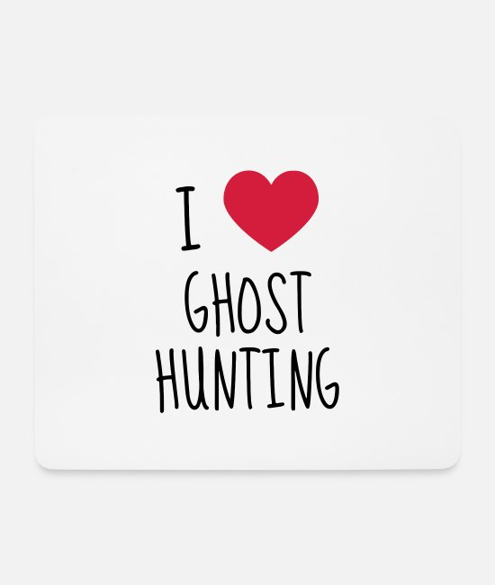 Magic Mouse Pads - Chasse aux fantômes Geisterjagd Hunting ghost - Mouse Pad white