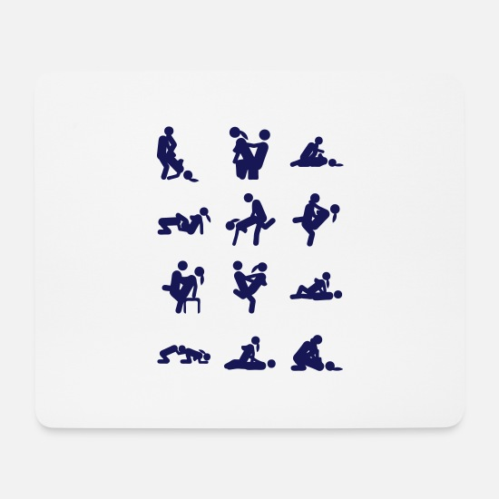 Love Mouse Pads - sex love position couple together icon - Mouse Pad white