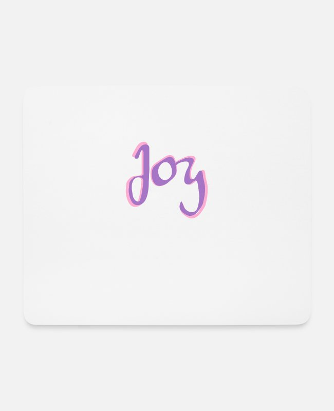 Be Happy Mouse Pads - Joy joy - Mouse Pad white