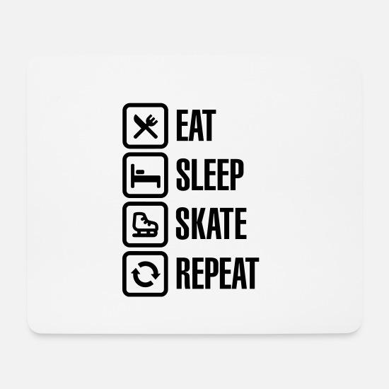 Artistique Tapis de souris  - Eat sleep figure ice skate repeat - Tapis de souris blanc