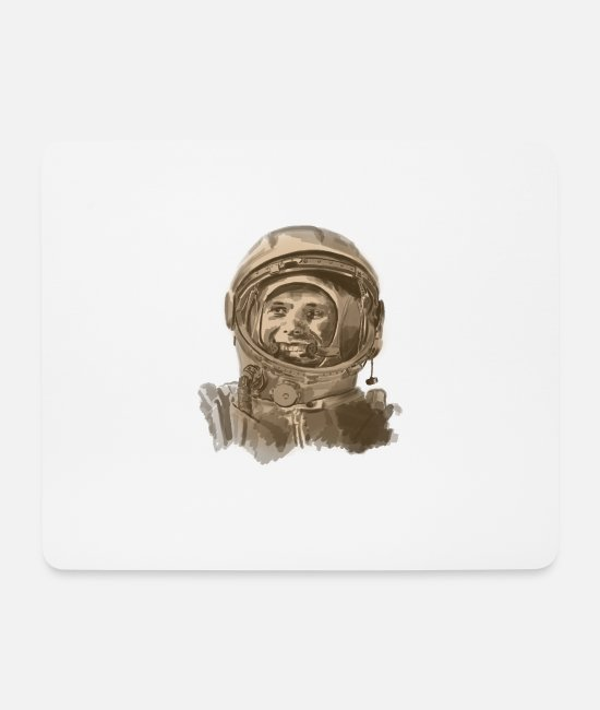 Space Mouse Pads - kosmonaut - Mouse Pad white
