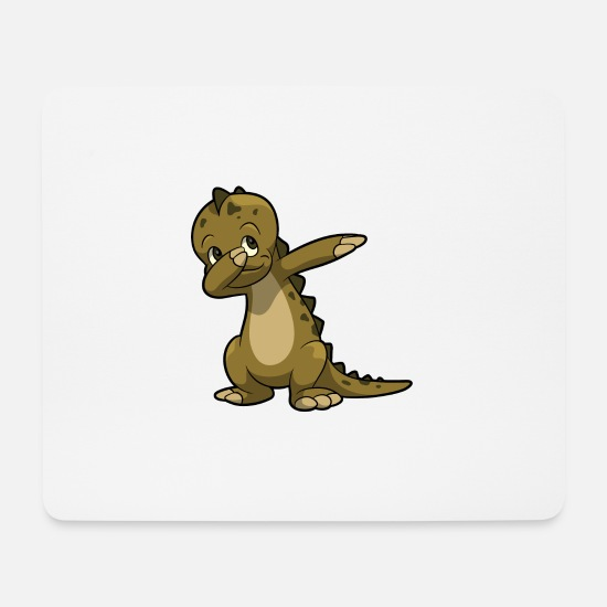 Birthday Mouse Pads - Dabbing dinosaur gift kid birthday - Mouse Pad white