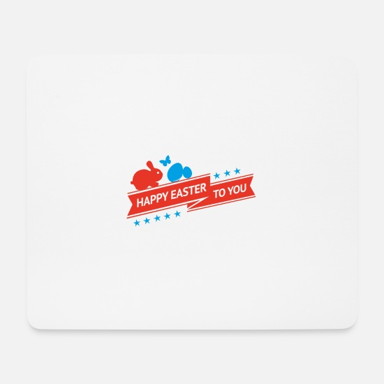 Osterhase Mousepads  - Frohe Ostern - Mousepad Weiß