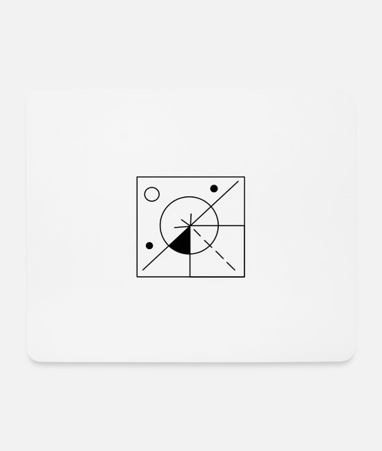 Drawing Mouse Pads - Geometry black - Mouse Pad white