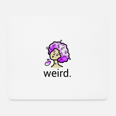 Purple Hair Weird purple hair - Mouse Pad