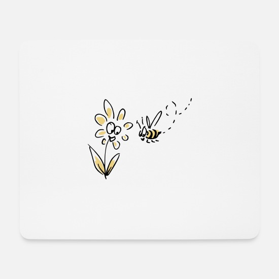 Bee Mouse Pads - with flour - Mouse Pad white