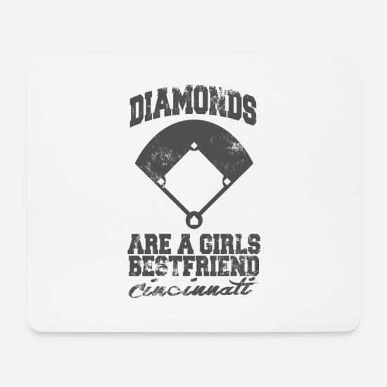 Birthday Mouse Pads - Diamonds are a girls bestfriend - Mouse Pad white