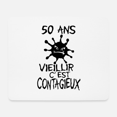 50 Years Old Birthday 50 years old contagious virus birthday - Mouse Pad