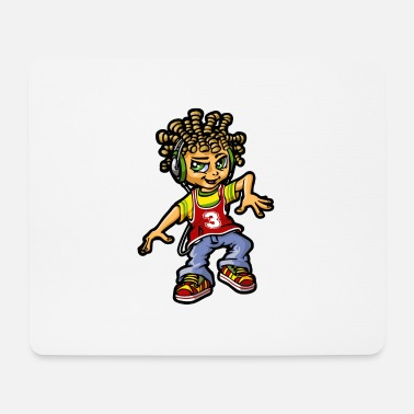 Bboy bboy and dreads - Mouse Pad