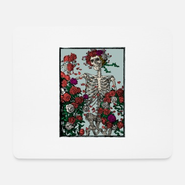 Manson Skeleton and roses - Mouse Pad