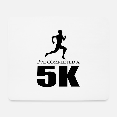 i ve completed a 5k jogging quote jog - Mouse Pad
