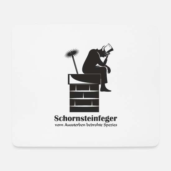 Black Forest Mouse Pads - Chimney sweep on fireplace - Mouse Pad white