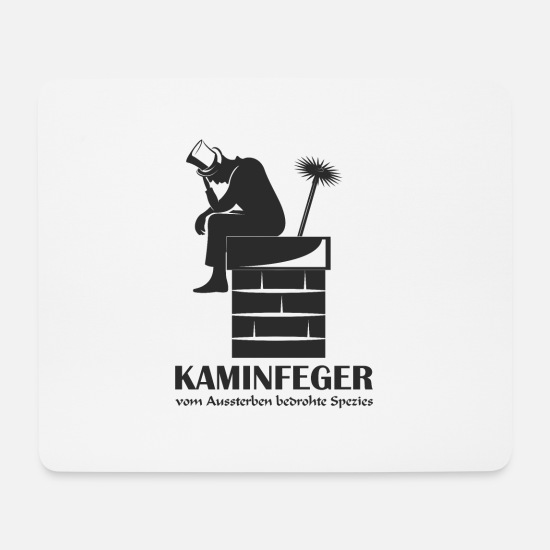 Oven Mouse Pads - chimney sweep on fireplace - Mouse Pad white