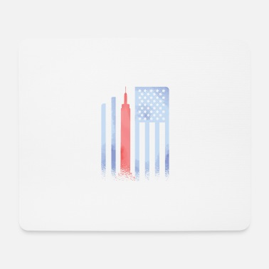 Star Empire State Building Flag Stars and Stripes - Mouse Pad
