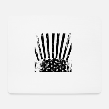 United Stars Stripes black white - Mousepad (Querformat)