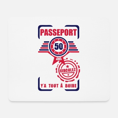 50 Years Old Birthday 50 years old birthday pass circulate - Mouse Pad