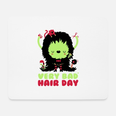 Spreadshirtlikes bad_hair_day - Tapis de souris