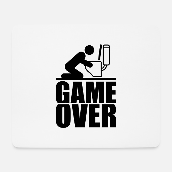 Party Mousepads  - game_over_f1 - Mousepad Weiß