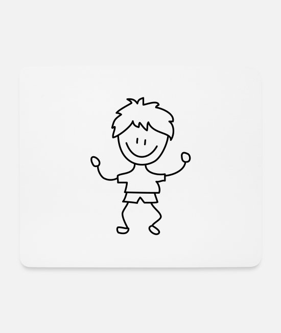Design Mouse Pads - boy - Mouse Pad white