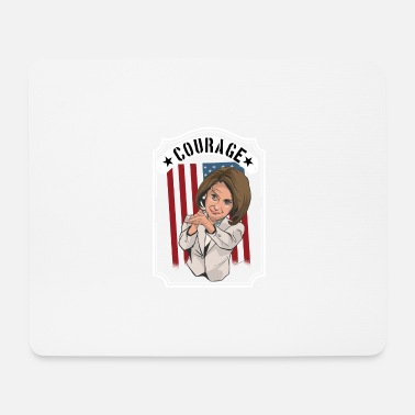 Congress Courage woman in white USA America clapping Trump - Mouse Pad
