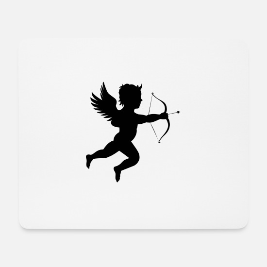 Angelwings Mousepads  - Cupido - Mousepad Weiß