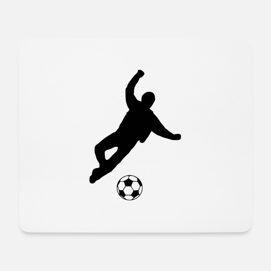 Ball Mousepads  - kicker - Mousepad Weiß